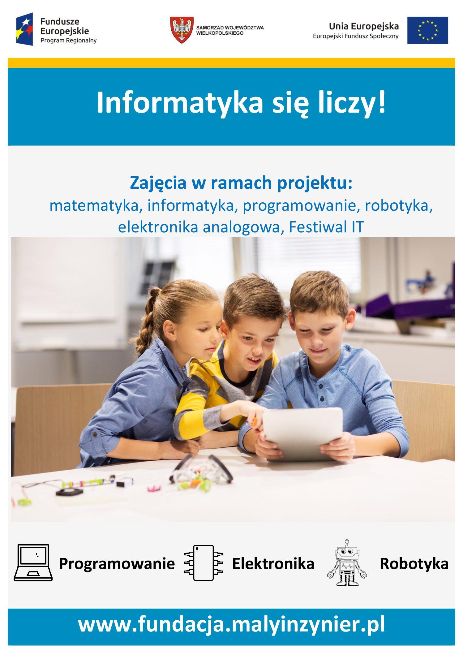 """Udział szkoły w projekcie """"Informatyka się liczy!"""""""